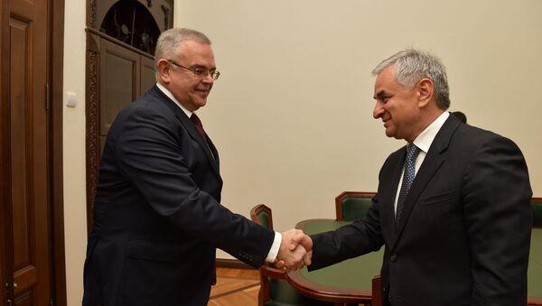 Встреча президента Хаджимба с послом Григорьевым, по случаю окончания дипмисси посла - Sputnik Аҧсны