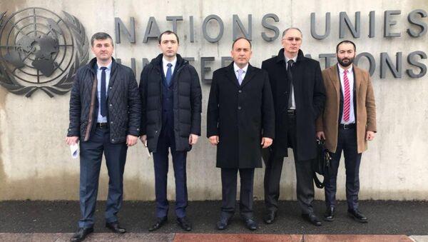 Абхазская делегация на женевских дискуссиях - Sputnik Абхазия