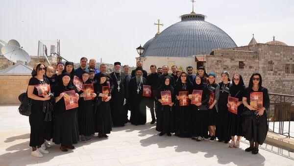 Паломники из Абхазии посетили Иерусалимский Патриархат - Sputnik Абхазия