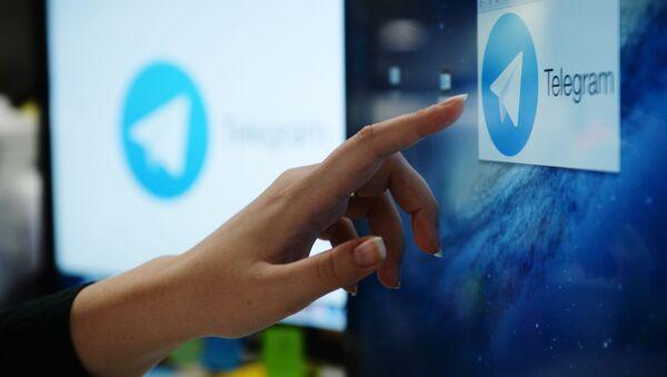 Мессенджер Telegram на экране монитора - Sputnik Аҧсны