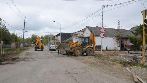 Ремонт дорог в городе Гудаута - Sputnik Абхазия
