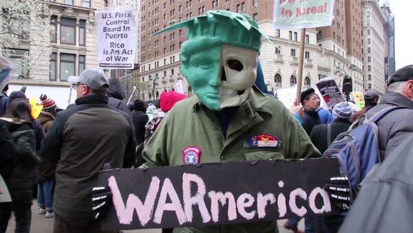 Протесты в США против ударов по Сирии - Sputnik Абхазия