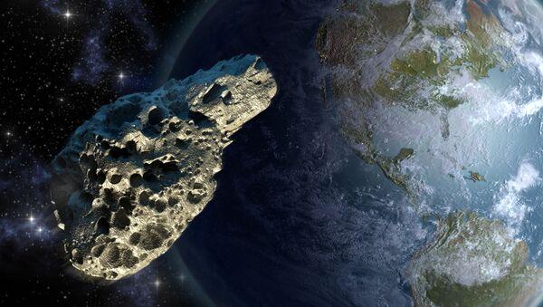 Астероид на фоне Земли - Sputnik Аҧсны