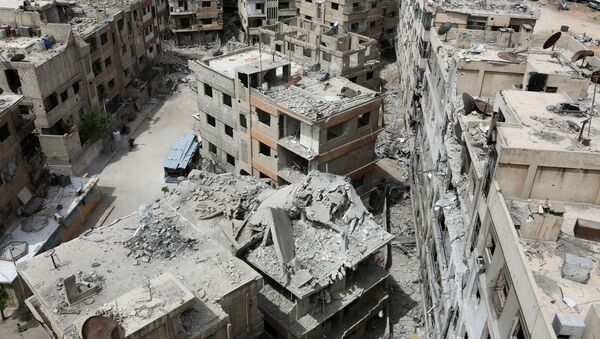 Разрушенные дома в сирийском городе Дума - Sputnik Аҧсны