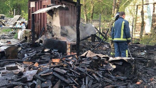 На месте пожара в городе Геленджик. 22 апреля 2018 - Sputnik Аҧсны