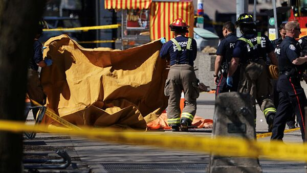 На месте инцидента в Торонто. - Sputnik Аҧсны