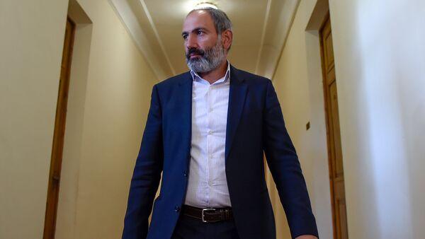 Лидер оппозиционной фракции Елк в НС Никол Пашинян (30 апреля 2018). Еревaн - Sputnik Аҧсны