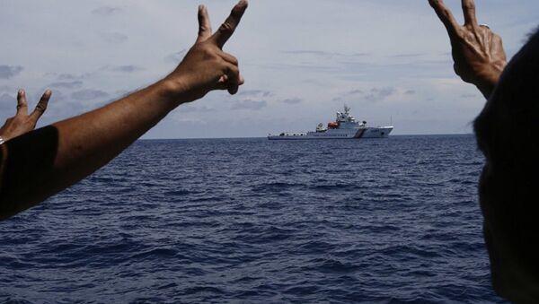 Корабль береговой охраны Китая в Южно-Китайском море. Архивное фото title=Корабль береговой охраны Китая в Южно-Китайском море. Архивное фото - Sputnik Абхазия