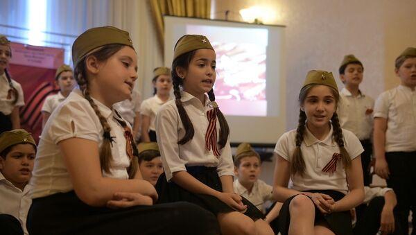 Катюша и письма с фронта: как школьники поздравили ветеранов Великой Отечественной - Sputnik Абхазия
