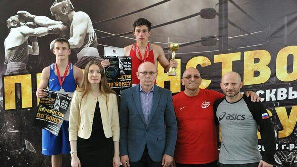 Молодой боксер из Гагры Герман Арджения одержал безоговорочную победу на первенстве Москвы - Sputnik Аҧсны