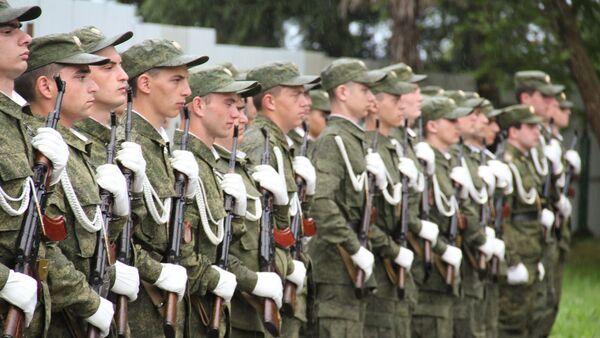 Принятие присяги новобранцами абхазской армии - Sputnik Абхазия