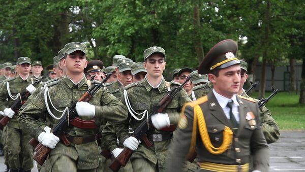 Защитники родины: как принимали присягу новобранцы абхазской армии - Sputnik Абхазия