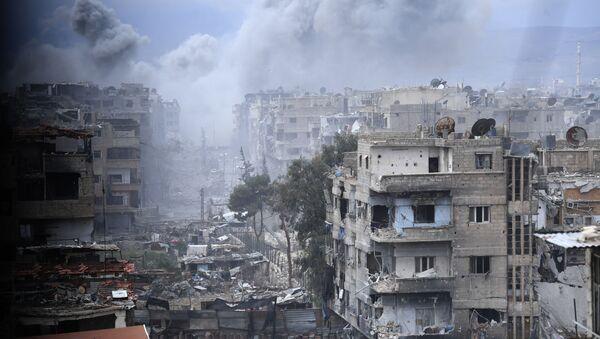 Ситуация в районе лагеря беженцев Ярмук в южном пригороде Дамаска - Sputnik Аҧсны