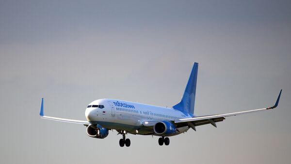 Самолет Boeing 737-800 авиакомпании Победа совершает посадку в аэропорту Внуково. - Sputnik Аҧсны
