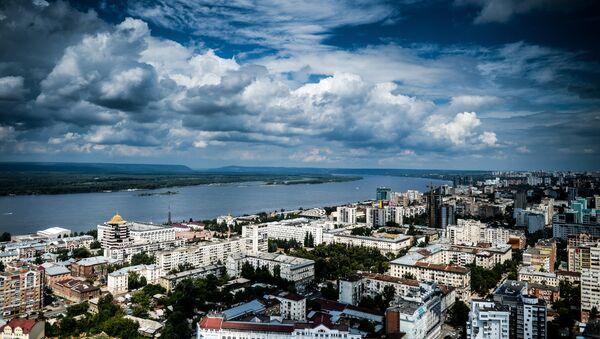 Улицы и здания Самары в окрестностях реки Волги - Sputnik Абхазия