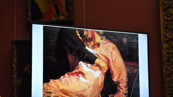 Брифинг по поводу повреждения картины И. Репина в Третьяковской галерее - Sputnik Абхазия