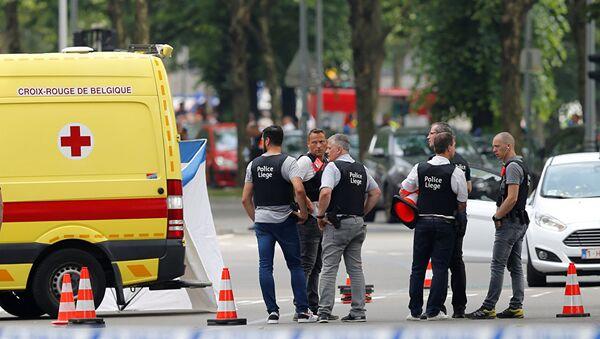 Полицейские на месте стрельбы в городе Льеж, Бельгия. 29 мая 2018 - Sputnik Абхазия