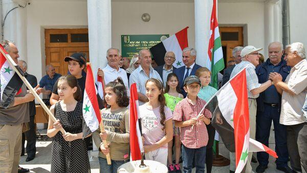 Митинг в министерстве по репатриации по вопросу признания независимости Абхазии Сирией - Sputnik Аҧсны