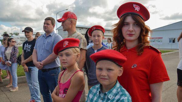 Юнармейцы приняли присягу в Абхазии - Sputnik Абхазия