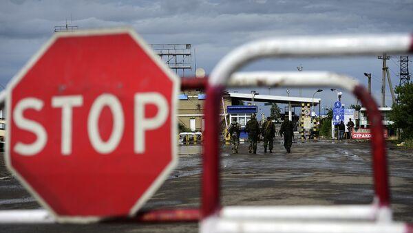 Пограничный пункт пропуска Изварино после обстрела - Sputnik Абхазия