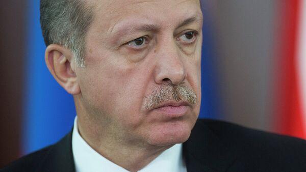 Премьер-министр Турции Реджеп Тайип Эрдоган во время совместной с президентом России Владимиром Путиным - Sputnik Аҧсны