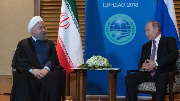 Президент РФ В. Путин на саммите ШОС в Китае - Sputnik Абхазия