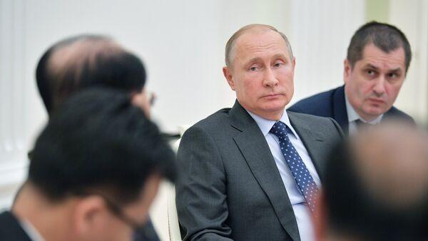Президент РФ В. Путин встретился с председателем президиума верховного народного собрания КНДР Ким Ен Намом - Sputnik Аҧсны