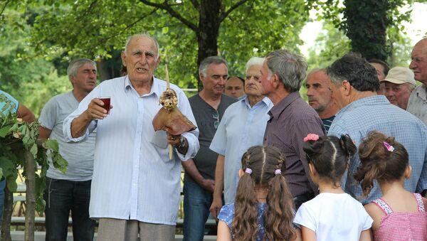Празднование одного из старейших праздников абхазов Ацуныҳәа в селе Дурипш - Sputnik Аҧсны