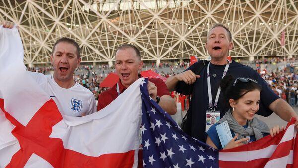 Болельщики перед матчем ЧМ-2018 по футболу между сборными Туниса и Англии - Sputnik Абхазия