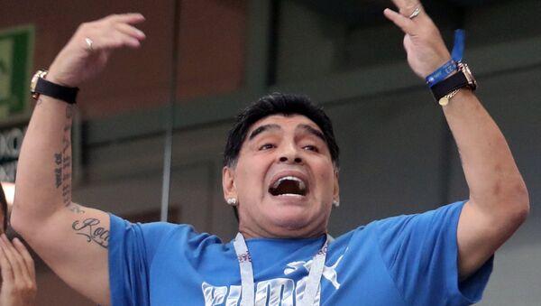 Аргентинатәи ашьапылампыласыҩ Диего Марадонаия - Sputnik Аҧсны