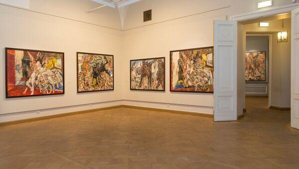 Выставка произведений Александра Семенцова Болевой синдром в Русском музее в Санкт-Петербурге - Sputnik Аҧсны