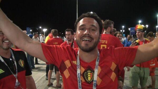 Радость бельгийских фанатов после победы их сборной в 1-8 финала - Sputnik Абхазия