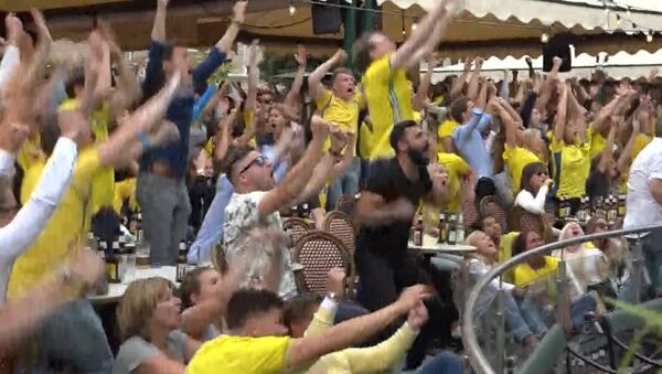 Взрыв эмоций - реакция шведов на победу национальной сборной - Sputnik Абхазия