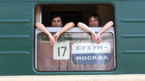 Пассажирки поезда сообщением Москва - Сухуми - Sputnik Аҧсны