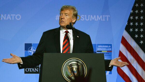 Пресс-конференция президента США Д. Трампа на саммите НАТО - Sputnik Абхазия