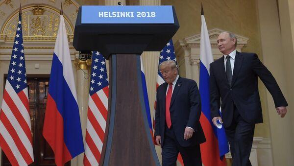 Встреча президента РФ Владимира Путина и президента США Дональда Трампа в Хельсинки - Sputnik Абхазия