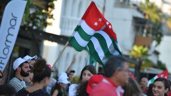 Празднование Дня национального флага Абхазии в Сухуме - Sputnik Абхазия