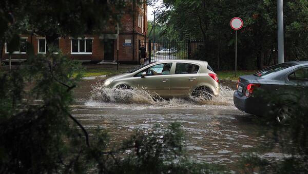 Сильный ливень затопил Краснодар - Sputnik Аҧсны