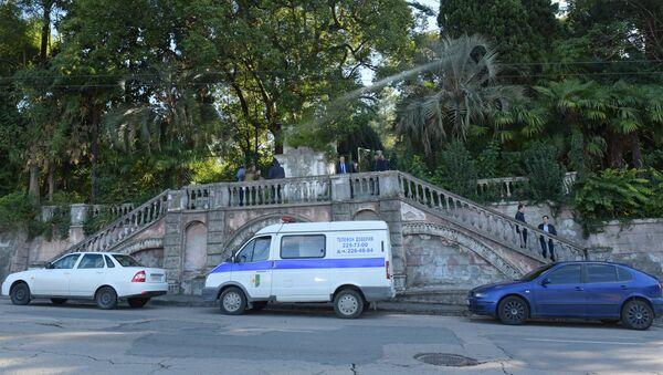 Ситуация у здания Абхазского гостелевидения в Сухуме - Sputnik Абхазия