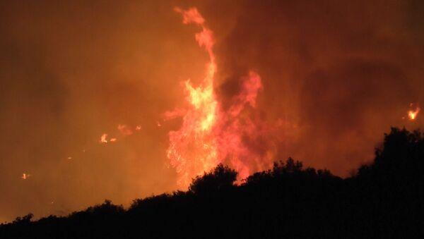 Пожар в Греции - Sputnik Абхазия