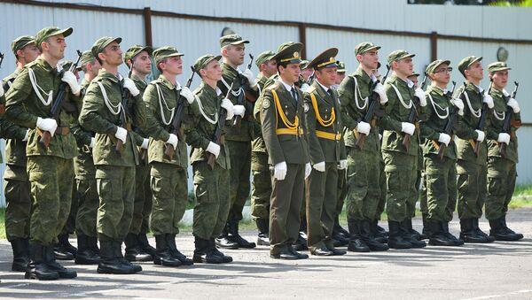 Призывники во время присяги в министерстве обороны Абхазии - Sputnik Абхазия