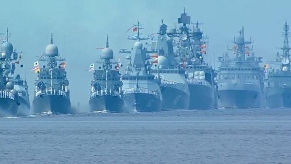 Главный военно-морской парад в честь дня ВМФ России - Sputnik Абхазия