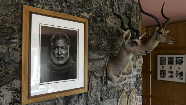 Ein Portrait von Ernest Hemingway. Archivfoto - Sputnik Абхазия