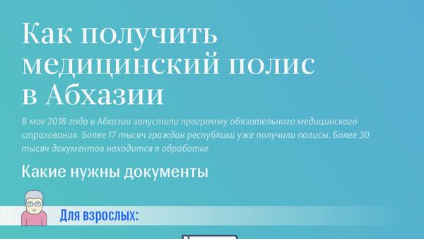 Как получить  медицинский полис в Абхазии - Sputnik Абхазия