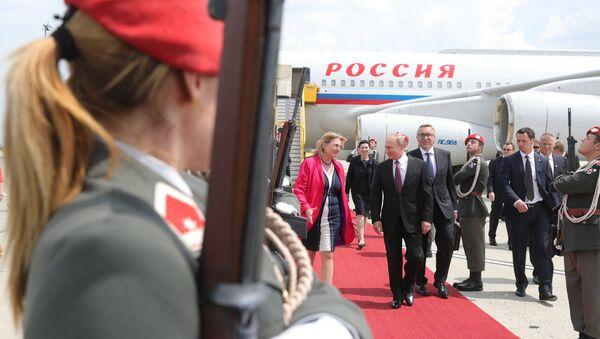 Рабочий визит президента РФ В. Путина в Австрию - Sputnik Абхазия