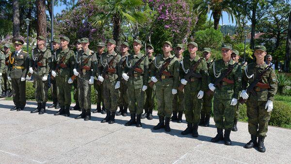Принятие присяги курсантами, поступившими в военные ВУЗы России - Sputnik Аҧсны