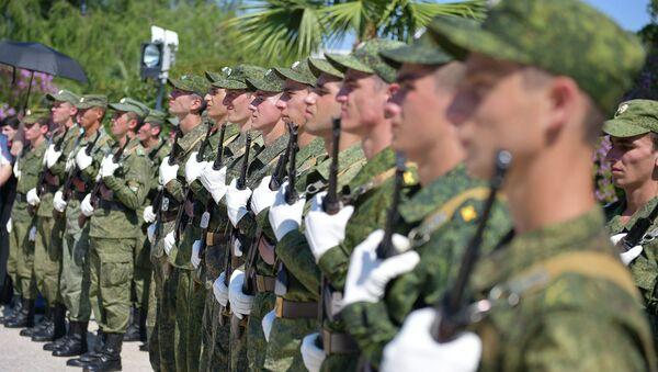 Принятие присяги курсантами, поступившими в военные вузы России - Sputnik Абхазия