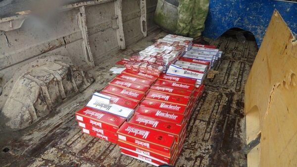 Партия табачной продукции в количестве 109 блоков сигарет марки Manchester (1090 пачек), предназначавшаяся для реализации на территории Грузии - Sputnik Абхазия