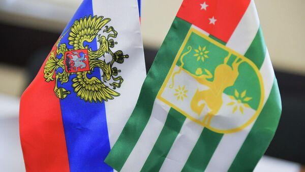Флаг Россия Абхазия - Sputnik Аҧсны