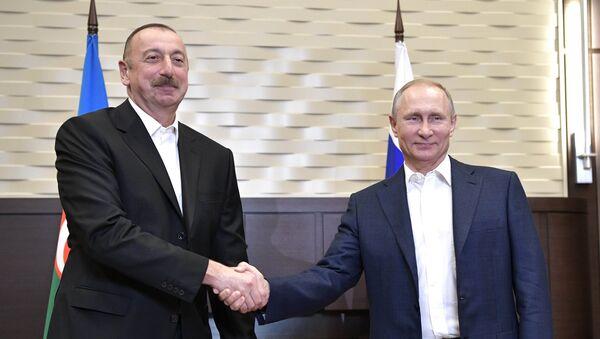 Встреча президента РФ В. Путина и президента Азербайджана И. Алиева - Sputnik Абхазия